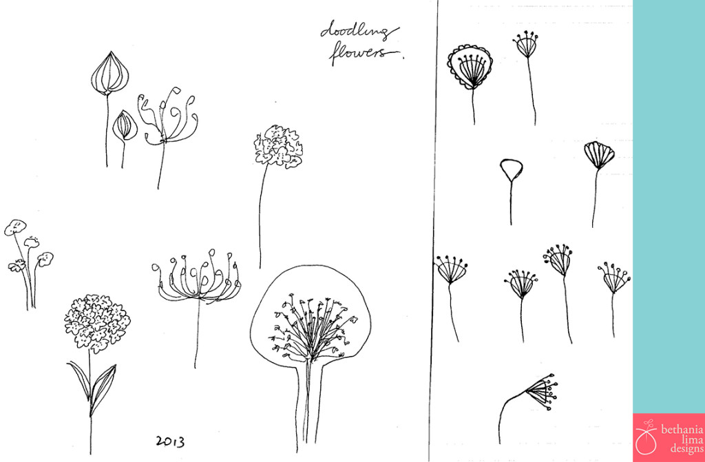 Dooding flowers. Bethania Lima Designs, 2013.