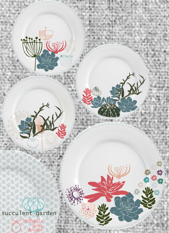 Succulent_Garden, Home decor week assignment at MATS A course. Copyright Bethania Lima Designs.