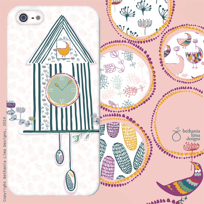 Modern take on cuckoo clock, design by Bethania Lima Designs. Part of MATS Bootcamp course assignment.