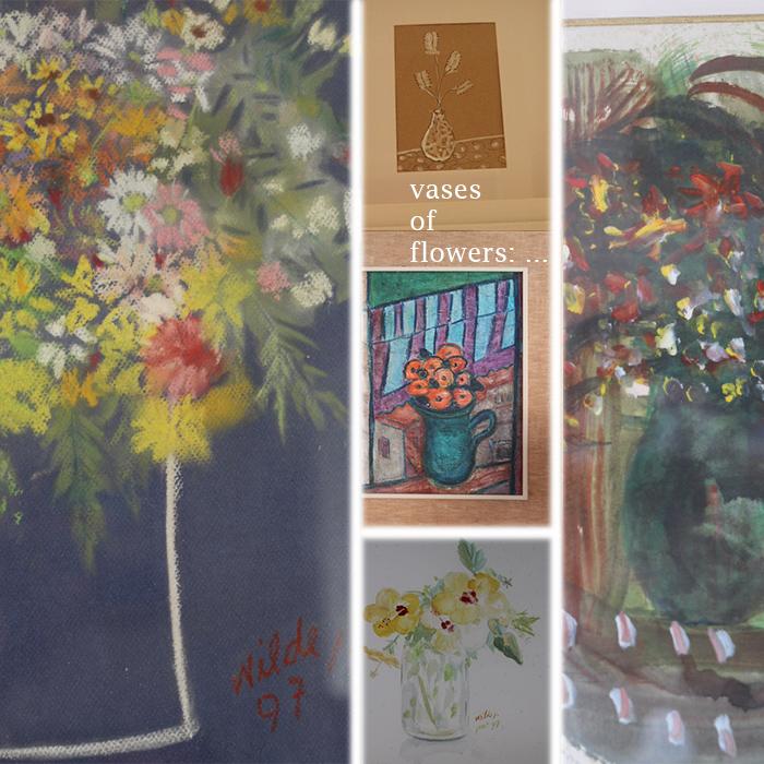 Vases od flowers artwork