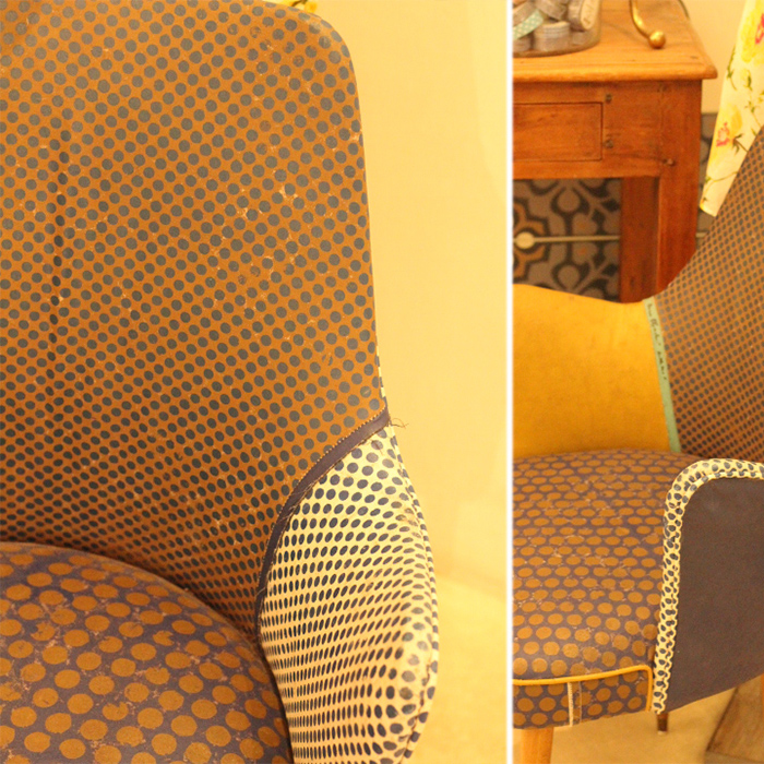 Dotted and vintage chair. Photos Bethania Lima Designs, 2014.