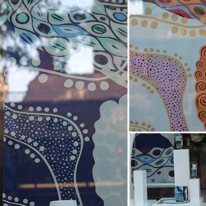 Patterns at window shop via Bethania Lima Designs blog